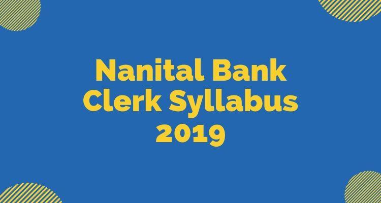 Nainital Bank Syllabus 2019