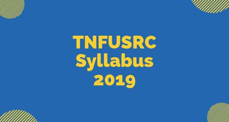 TNFUSRC Syllabus 2019