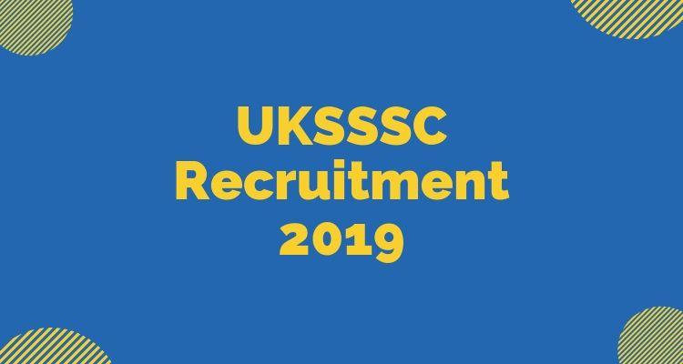 uksssc recruitment 2019