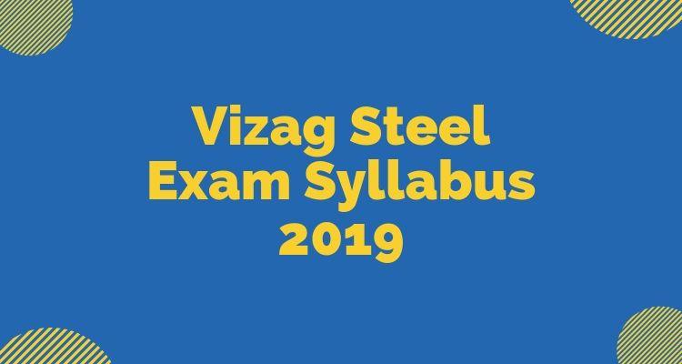 Vizag Steel Syllabus 2019
