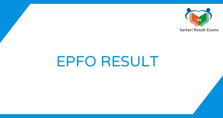 EPFO Result 2019