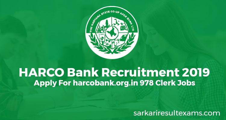 harco bank recruitment 2019