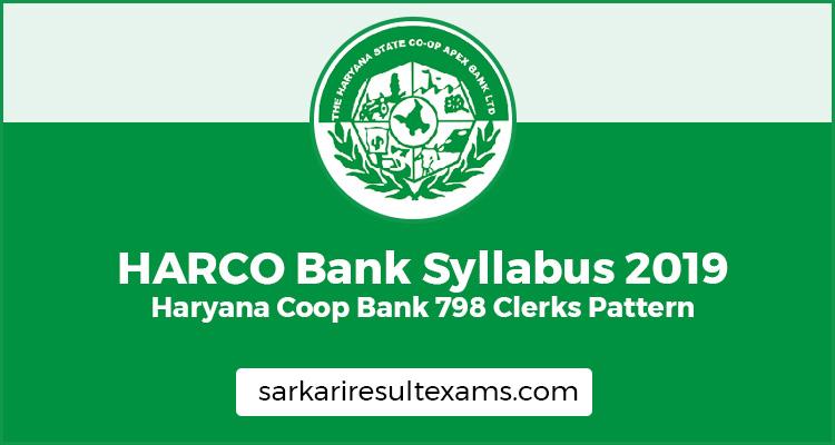 HARCO Bank Syllabus 2019
