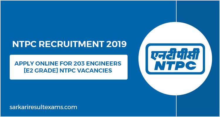ntpc recruitment 2019