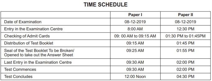 CTET Exam Schedule 2019