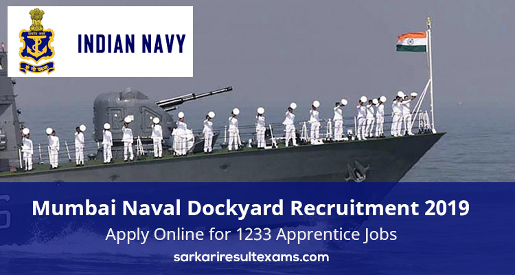 Naval Dockyard Recruitment 2019