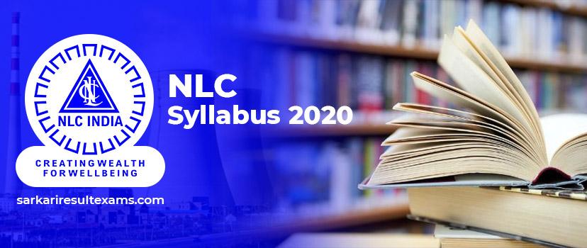 NLC Syllabus 2020 – NLC GET Exam Syllabus & Pattern Pdf @nlcindia.com