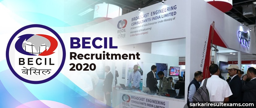 BECIL Recruitment 2020 Apply for Broadcast Engineering 464 MTS Jobs at becil.com