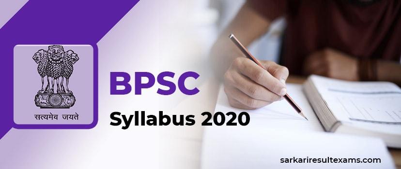BPSC Syllabus 2020 – Bihar PSC 255 Assistant Engineer Exam Pattern