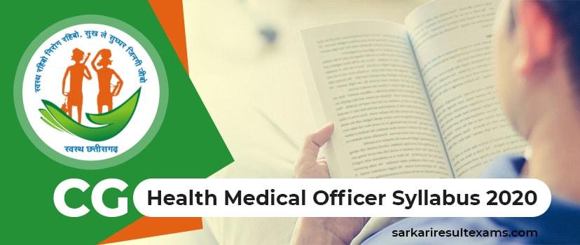 Download CG Health Syllabus 2020 – Chhattisgarh DHFW 208 MO Exam Pattern