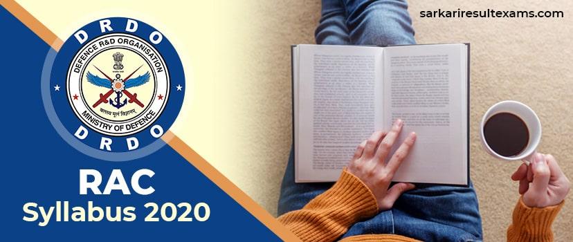 RAC Syllabus 2020 – DRDO RAC 167 Scientist B Exam Pattern at rac.gov.in