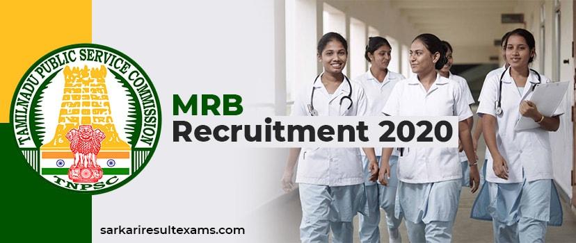 MRB Recruitment 2020 – Tamil Nadu MRB 63 Assistant Medical Officer (AMO) Post Apply Online