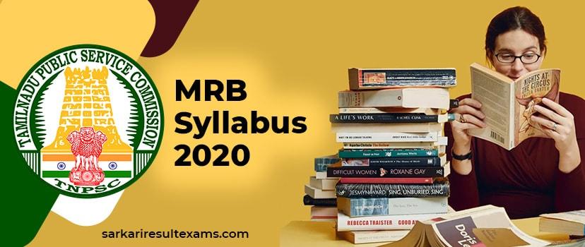Check MRB Syllabus 2020 – Tamil Nadu MRB 63 AMO Syllabus @mrb.tn.gov.in