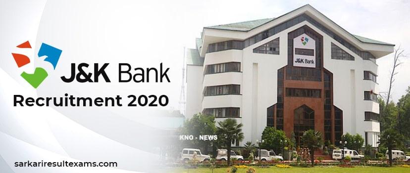 JK Bank Recruitment Notification 2020 | 1850 Bank PO & Banking Assistant Jobs | Apply Online at jkbank.com