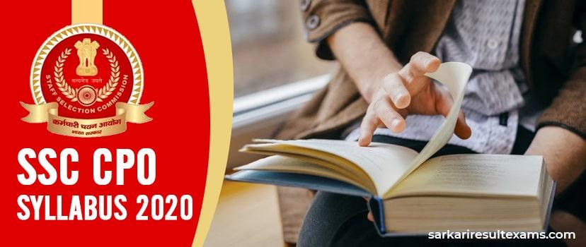 Download SSC CPO Syllabus 2020 Hindi Pdf – CAPF SI Online Test, PET-PST & DME Exam Pattern