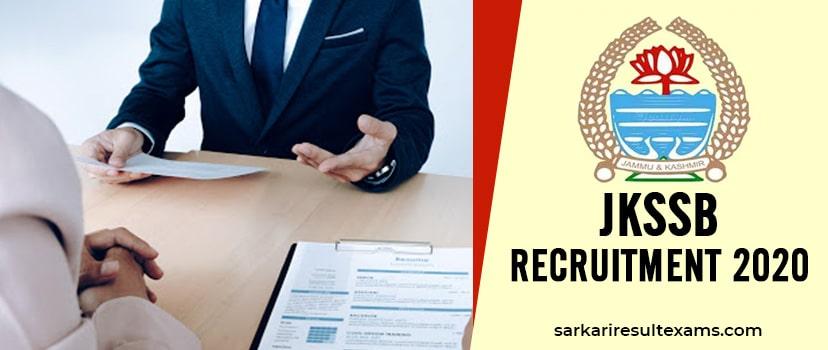 JKSSB Recruitment 2020 Apply Online for 10464 Accounts Assistant & Class 4 Jobs