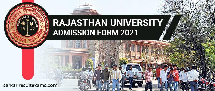 Rajasthan University Admission Form 2021 – Uniraj UG Application Form, Time Table Released