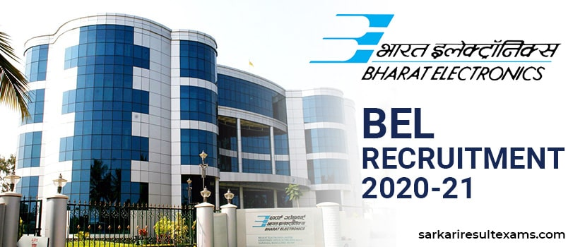 BEL Recruitment 2020-21 Apply Online for Bharat Electronics Limited 108 Engineers Jobs at bel-india.in