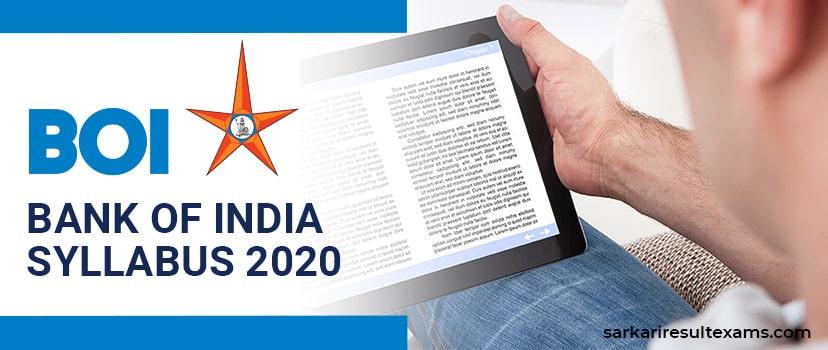 BOI Credit Officer Exam Syllabus 2020 PDF | Bank of India Exam Date, Pattern