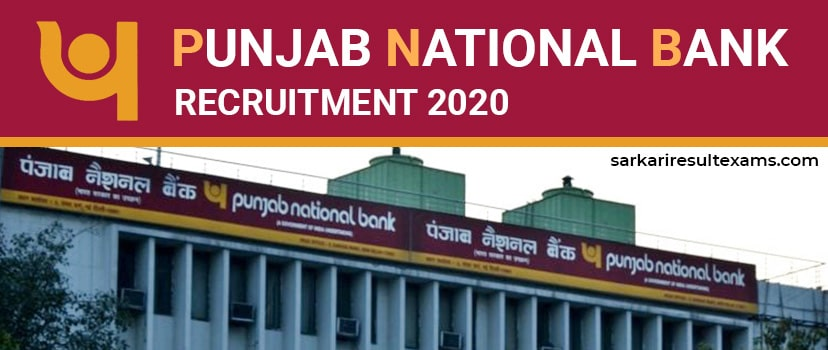 Punjab National Bank Recruitment 2020 Apply Online for PNB 535 Specialist Officer (SO) Jobs @pnbindia.in