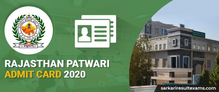 Rajasthan Patwari Admit Card 2021- Patwari Exam Postponed, Check Details at rsmssb.rajasthan.gov.in