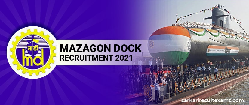 Mazagon Dock Recruitment 2021 Apply Online for 86 Graduate/Diploma Apprentice Jobs, Stipend Rs 9000/-