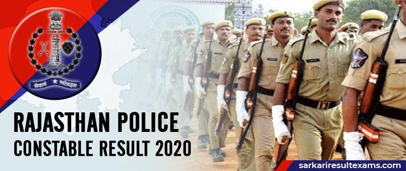 Rajasthan Police Constable Result 2020 (राजस्थान पुलिस परीक्षा परिणाम) for 5438 Post Check Cut Off, Merit List