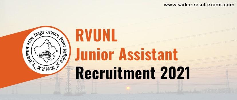 RVUNL Junior Assistant Recruitment 2021 Application Form for 1295 Jr. Assistant, Jr. Accountant, Stenographer & Other Jobs