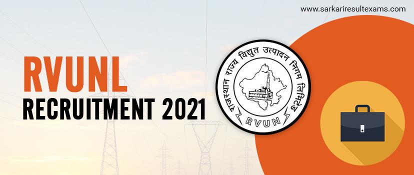 RVUNL Recruitment 2021 Notification for JEN, AEN, Jr. Chemist & Other 1075 Vacancy Apply Online