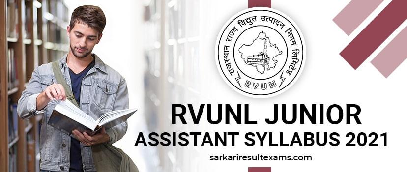 RVUNL Junior Assistant Syllabus 2021: 1295 Jr. Assistant, JLO & Other Posts Exam Pattern